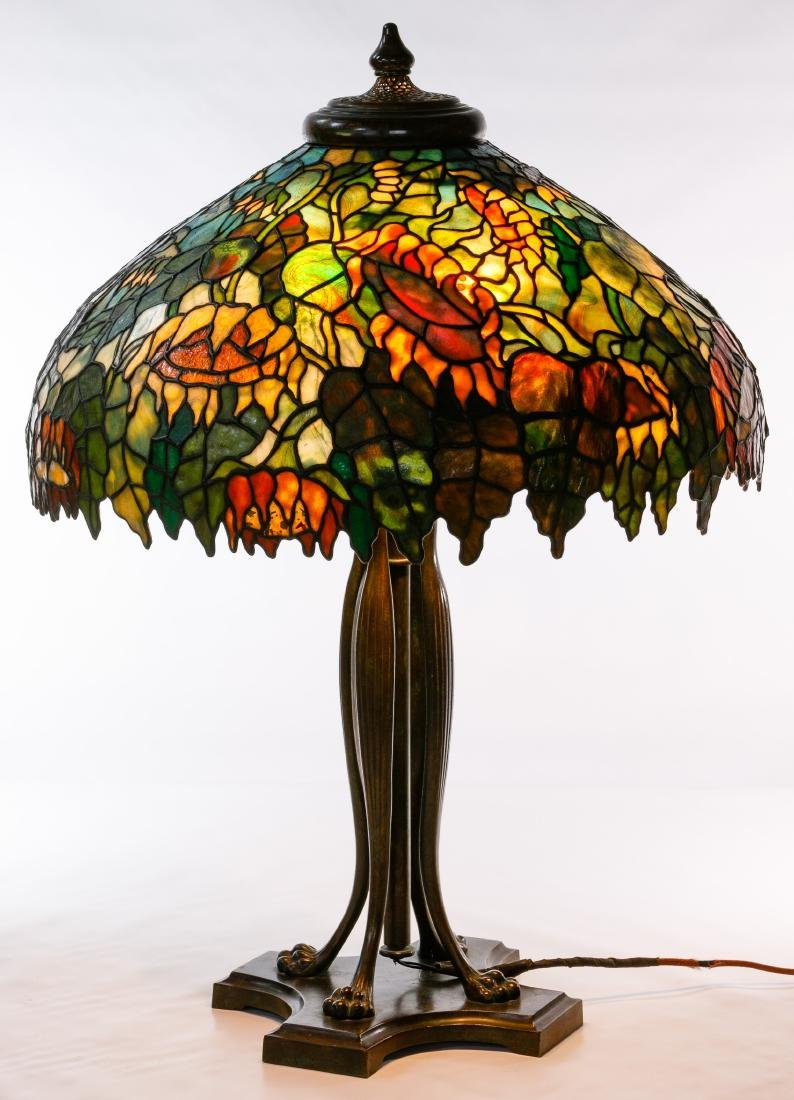 Tiffany Style 'Sunflower' Stained Glass Shade Table