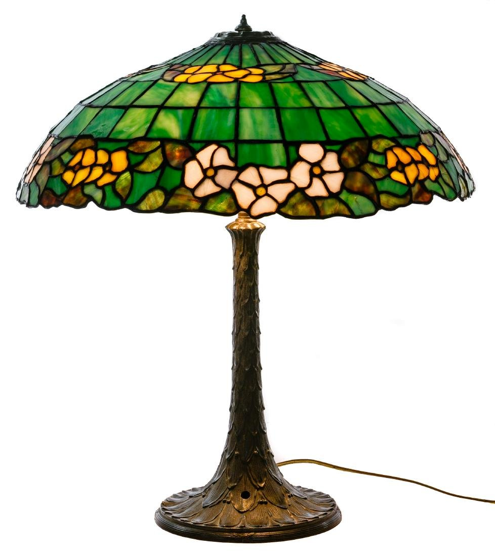 Leaded Glass Table Lamp