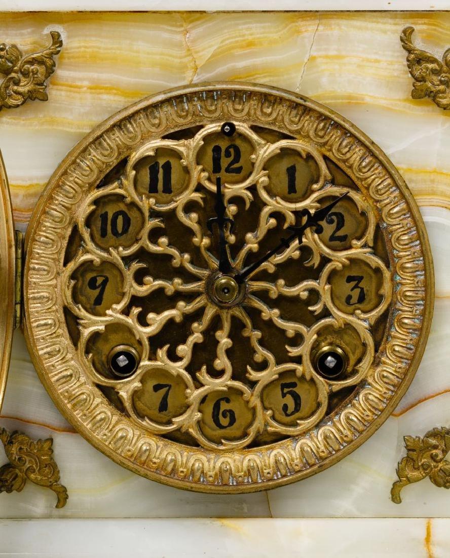 Alabaster Mantel Clock and Bergen Nautik Compass - 2