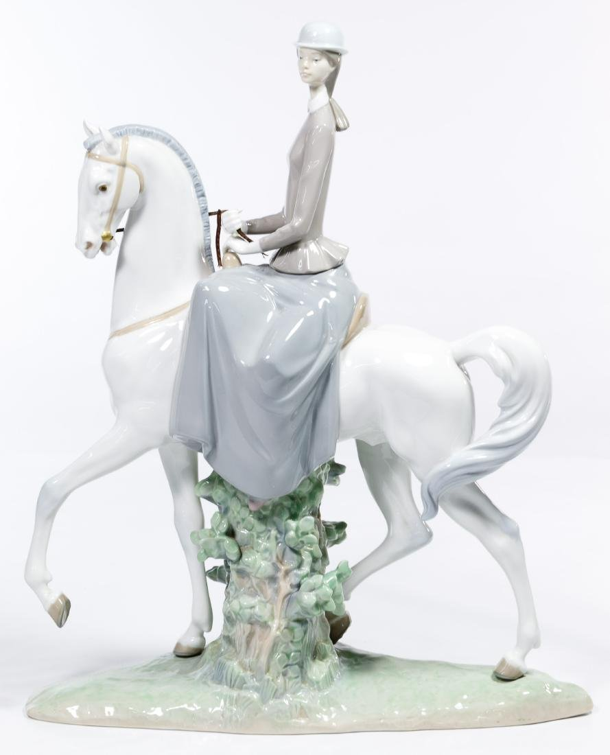 Lladro #4516 'Women on a Horse' Figurine