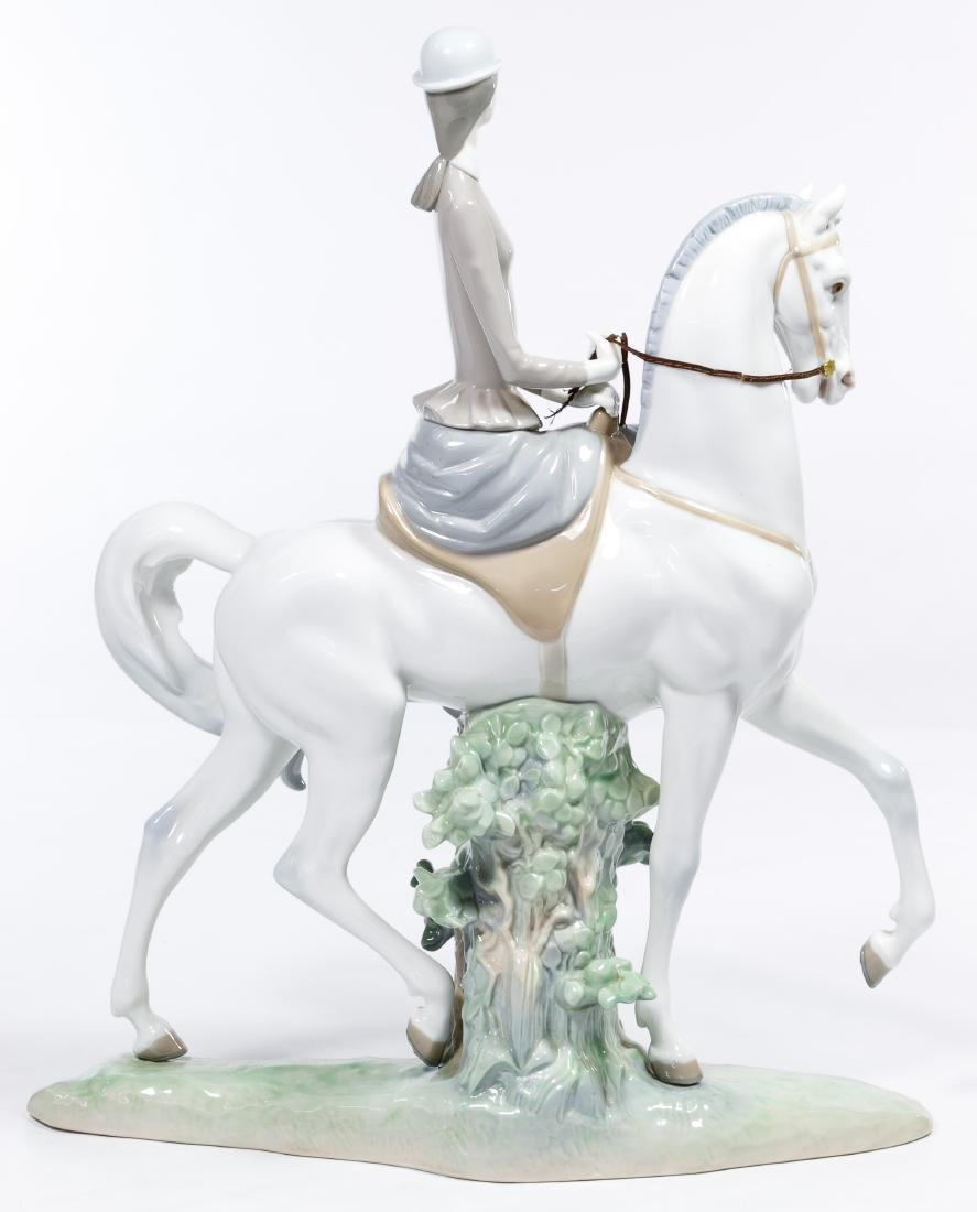 Lladro #4516 'Women on a Horse' Figurine - 2