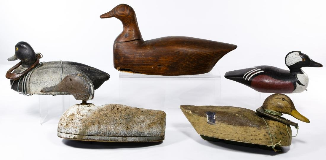 Carved Wood Duck Decoy Assortment - 2