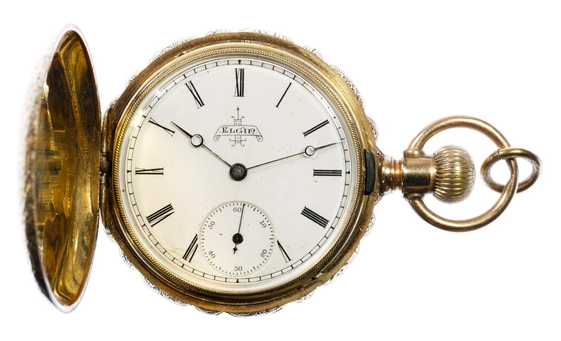 Elgin 14k Gold Hunter Case Pocket Watch