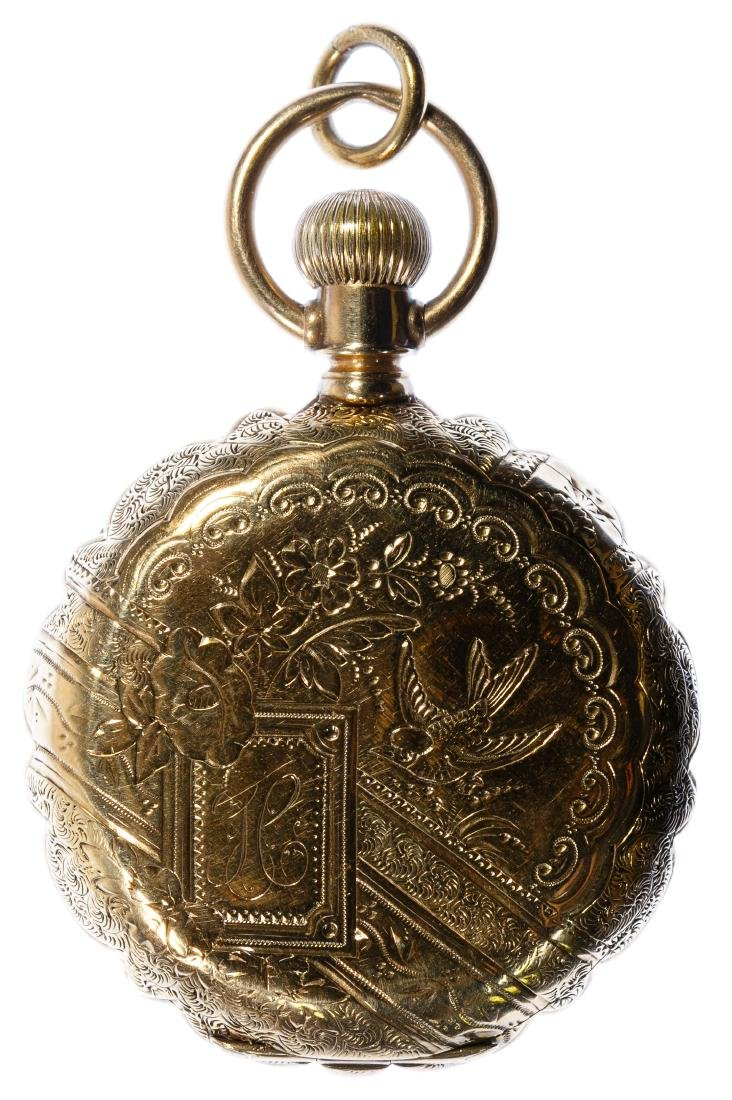 Elgin 14k Gold Hunter Case Pocket Watch - 2