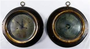 American Steam Gauge & Valve Company Clock and Bourdon
