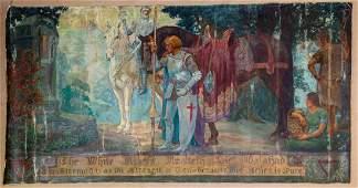 Unknown Artist (American, 19th Century) 'Sir Galahad'