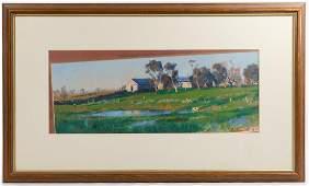 Peter Smales (Australian, b.1958) Oil on Paper