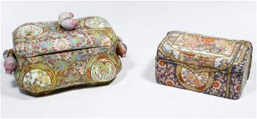 Japanese Porcelain Lidded Boxes