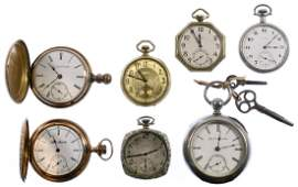 Elgin and Illinois Watch Co. Pocket Watch Assortment