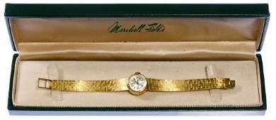 Juvenia 18k Gold Case and Band Wrist Watch