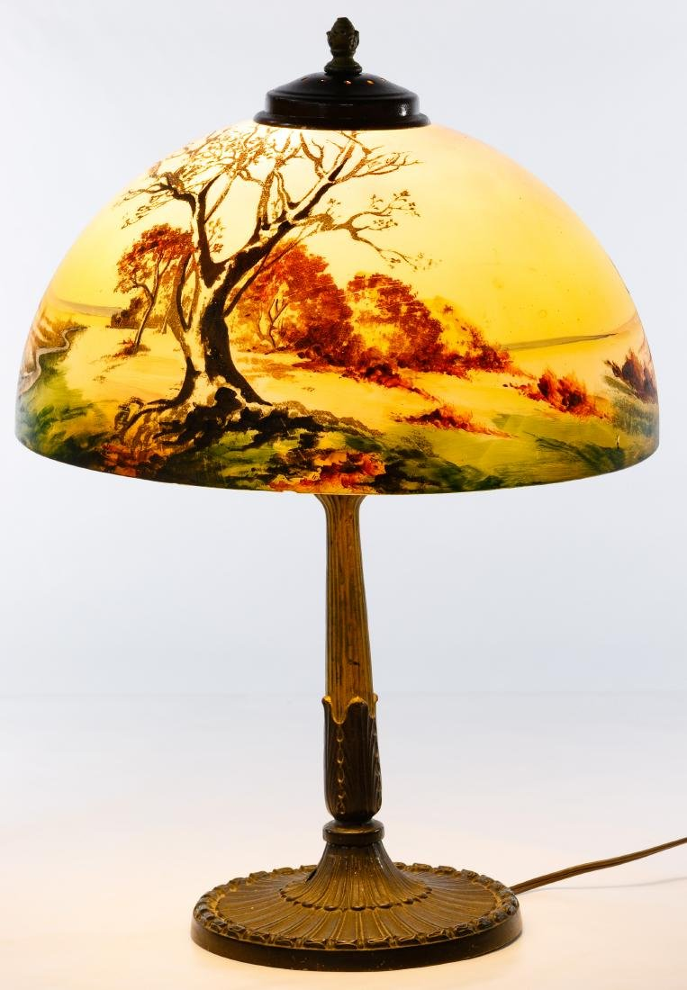 Pittsburgh Lamp Co. Table Lamp and Shade