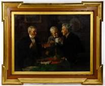 Louis Moeller American 18551930 Oil on Canvas