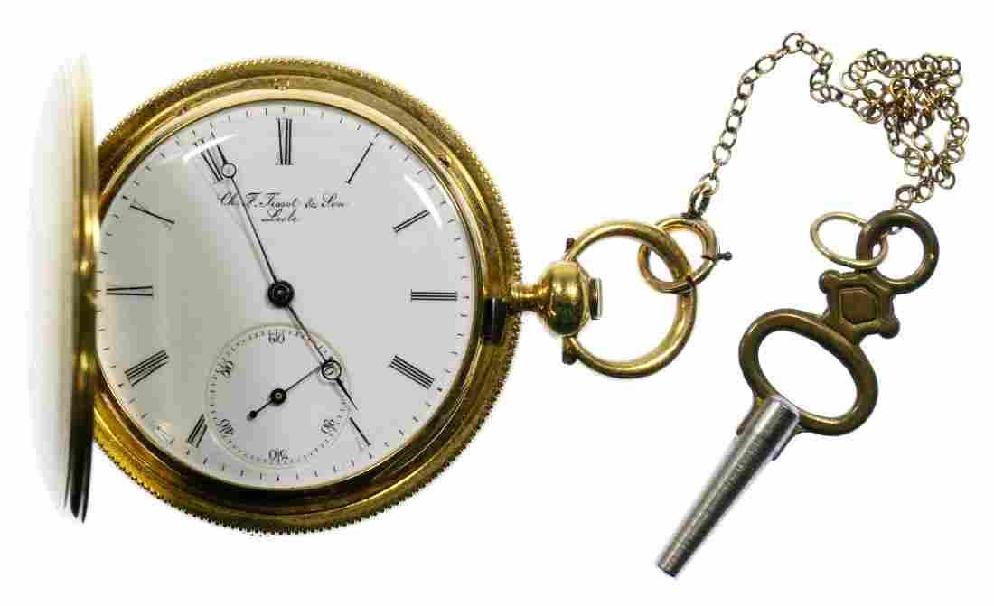 Charles F Tissot & Son 18k Gold Hunter Case Pocket