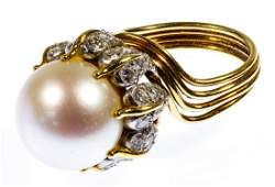 Jean Schlumberger for Tiffany 18k Gold and Pearl Ring