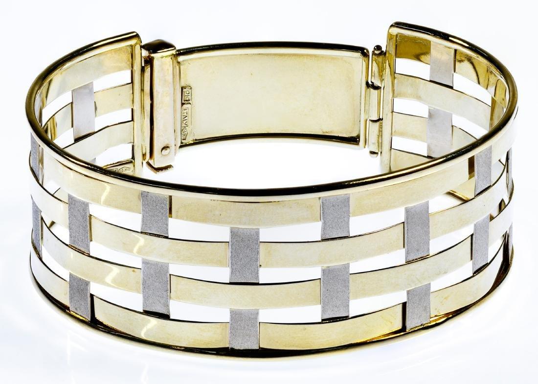 14k Bi-Color Gold Bangle Bracelet