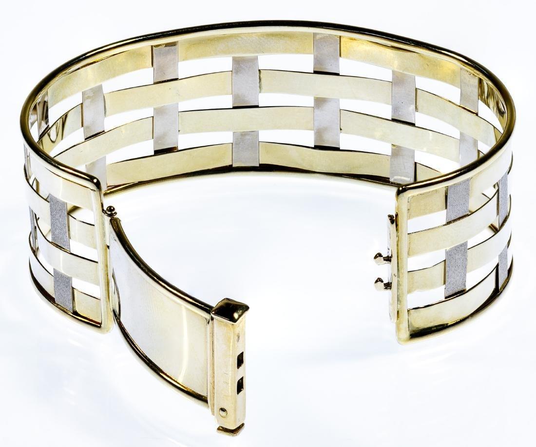 14k Bi-Color Gold Bangle Bracelet - 2