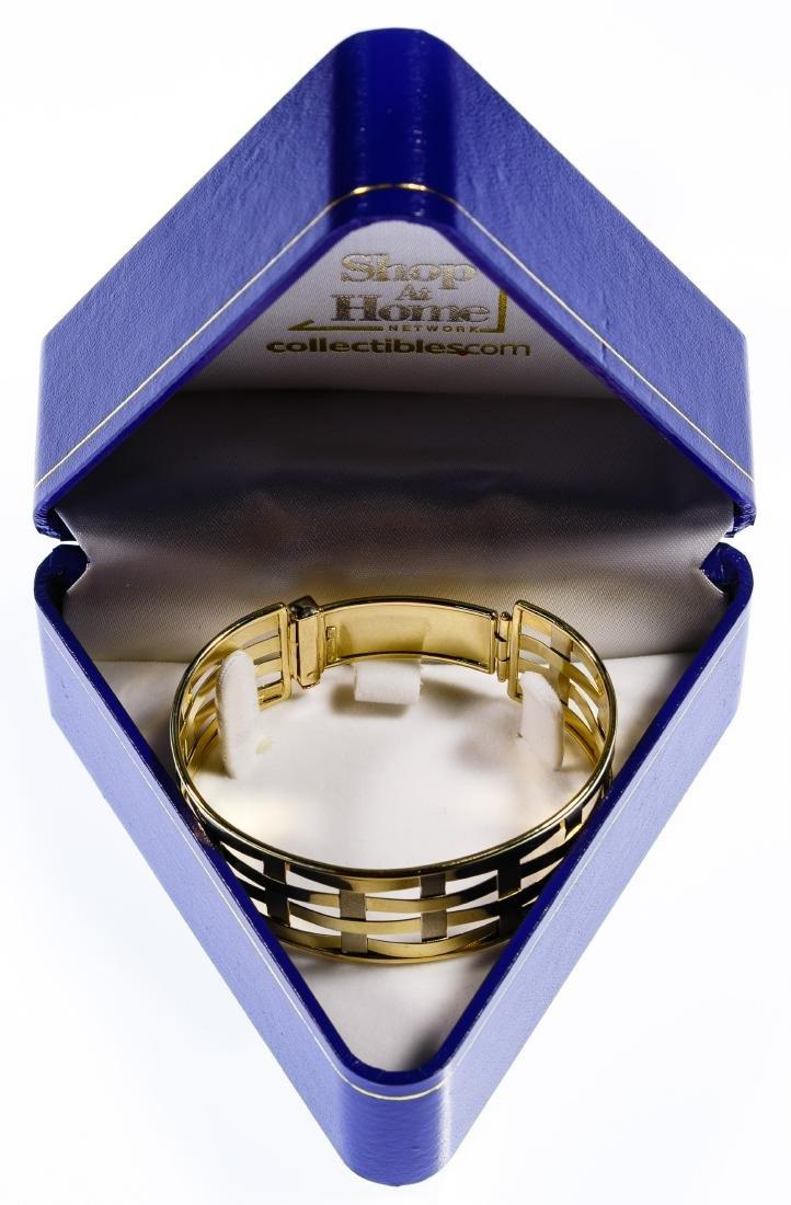 14k Bi-Color Gold Bangle Bracelet - 3
