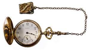Elgin 14k Multi-color Gold Hunter Case Pocket Watch