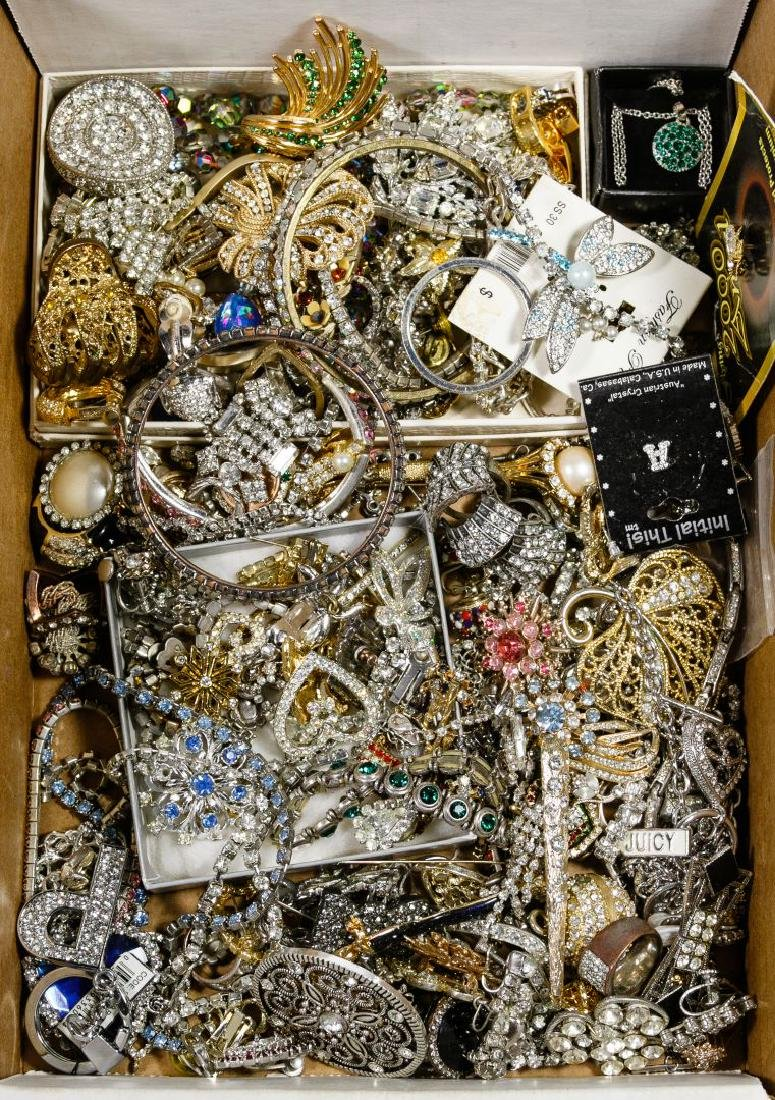 Costume Jewelry Rhinestone Assortment