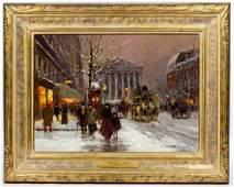"Edouard Cortes (French, 1882-1969) ""Rue Royale et La Ma"