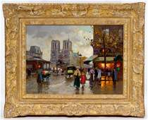 "Edouard Cortes (French, 1882-1969) ""Place Saint Michel"