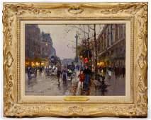 Edouard Cortes (French, 1882-1969) 'Place de la