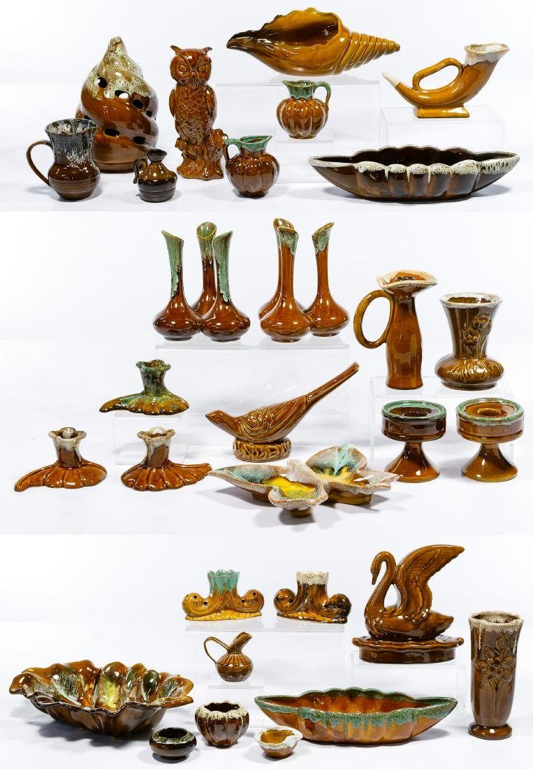 Van Briggle Brown / Green Pottery Assortment