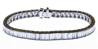 Platinum and Diamond Eternity Bracelet