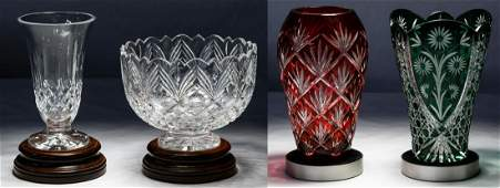 Waterford and Cut to Clear Vase Assortment