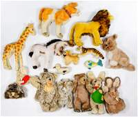 Steiff Stuffed Animal Assortment