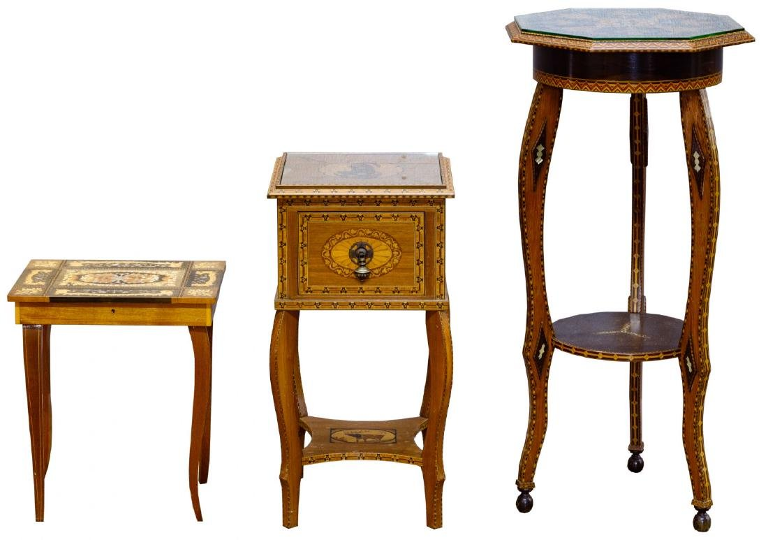 Inlaid Occasional Table Assortment