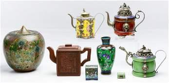 Chinese Cloisonne, Plique-de-Jour and Clay Assortment