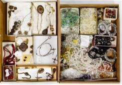 Victorian Garnet and Austrian Crystal Jewelry