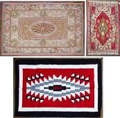 Wool Rug, Needlepoint and Blanket