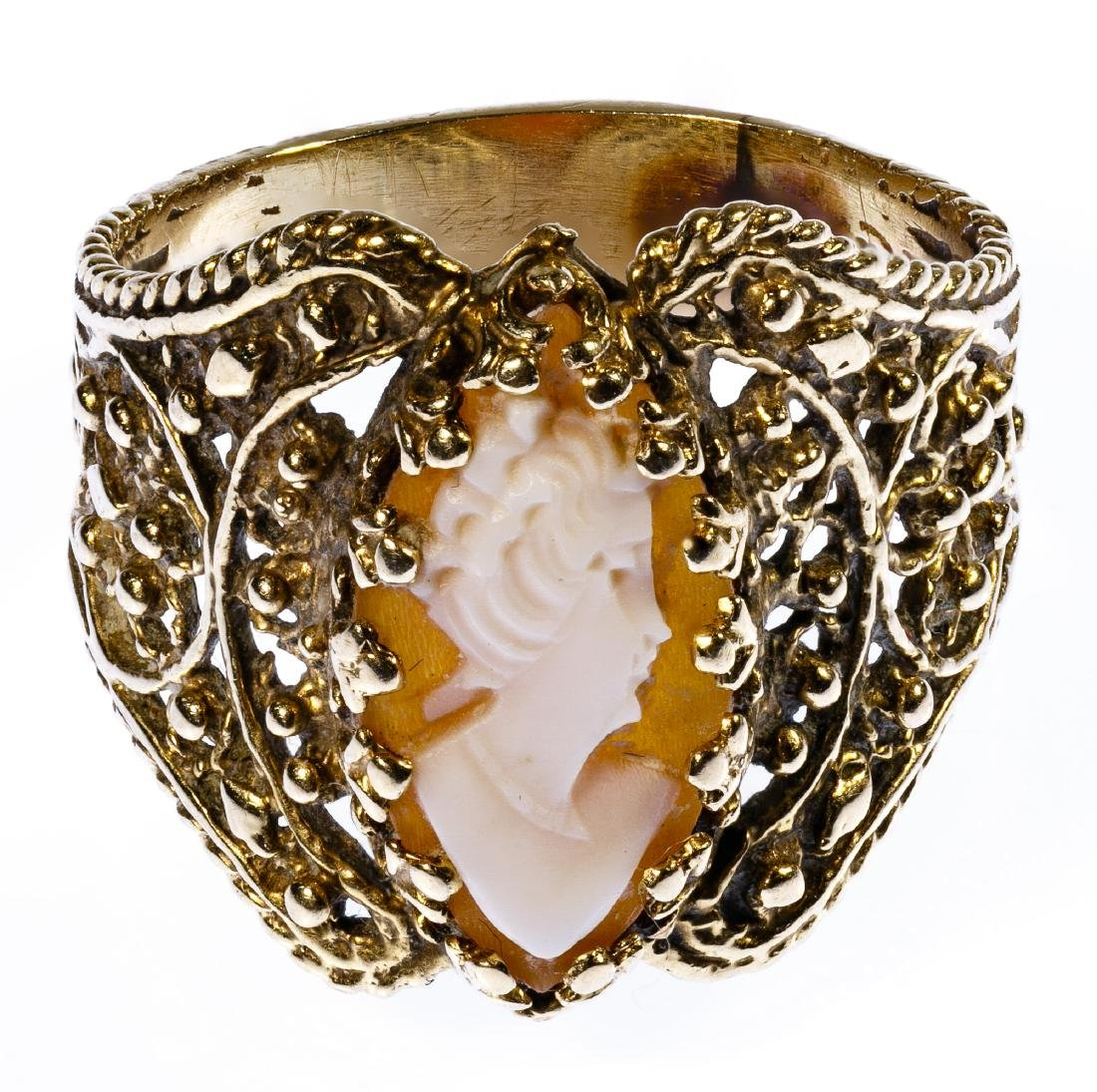 14k Gold and Cameo Ring