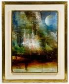 Leonardo Nierman (Mexican, b.1932) 'Metropoli' Oil on