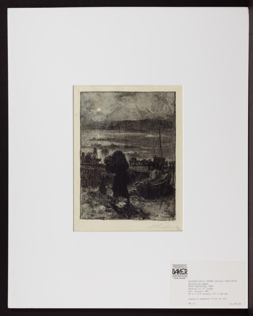 Auguste Louis Lepere (French, 1949-1918) 'Recolte de