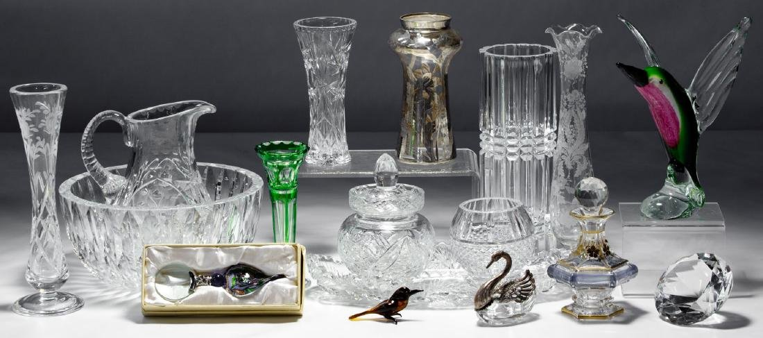 Crystal and Pressed Glass Assortment