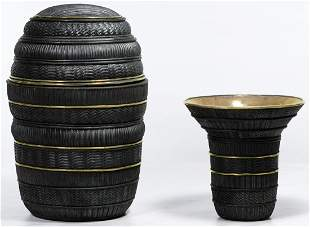 Candone Wharton (American, b.1950) Raku Pottery