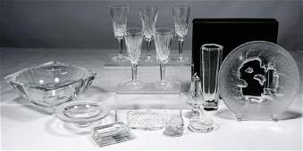 Waterford, Baccarat, Lalique and Hoya Crystal