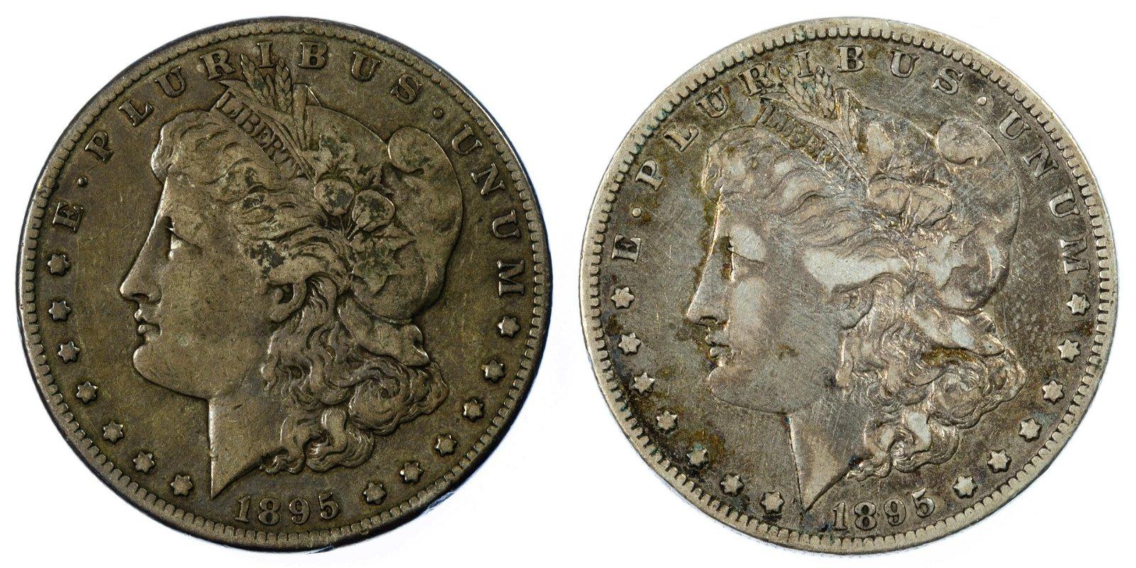 1895-O, 1895-S $1 F/VF