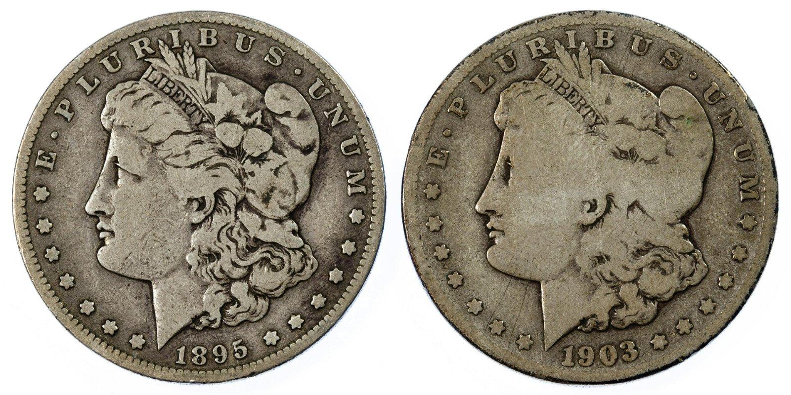 1895-S, 1903-S $1 G/VG