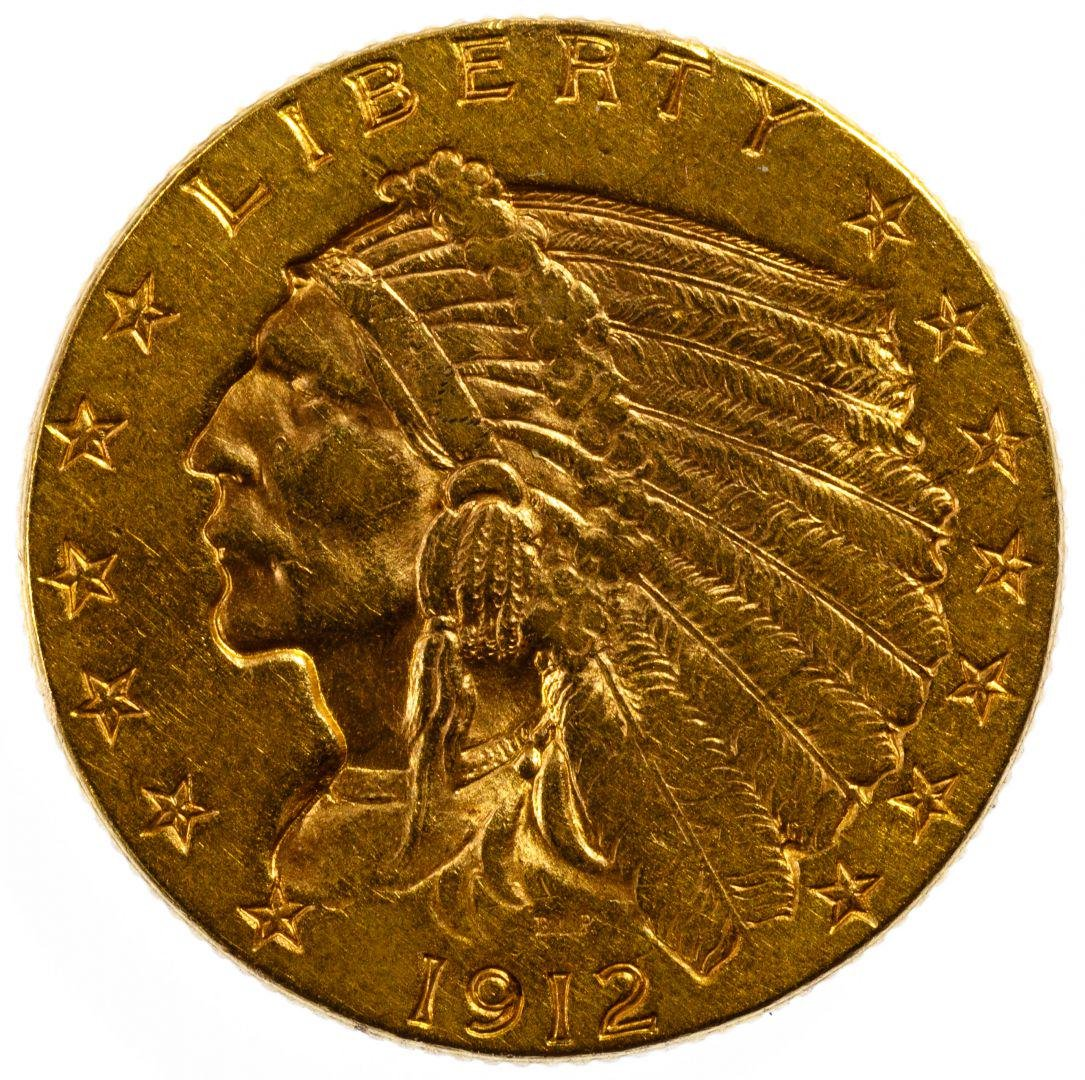 1912 $2 1/2 Gold