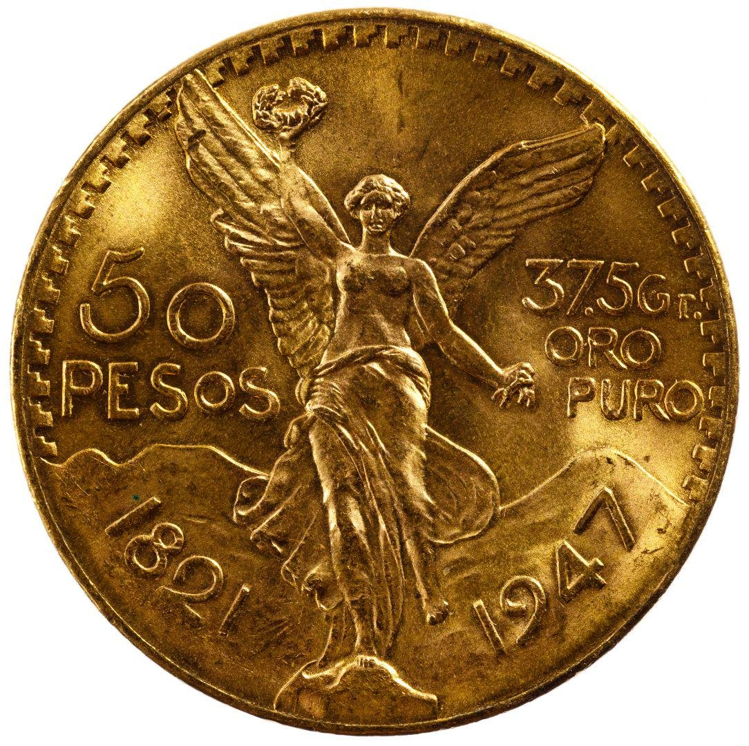 Mexico: 1947 50 Peso Gold