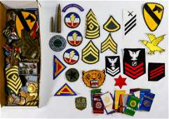 Military Medal and Patch Assortment