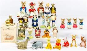 Porcelain and Ceramic Figurine Assortment