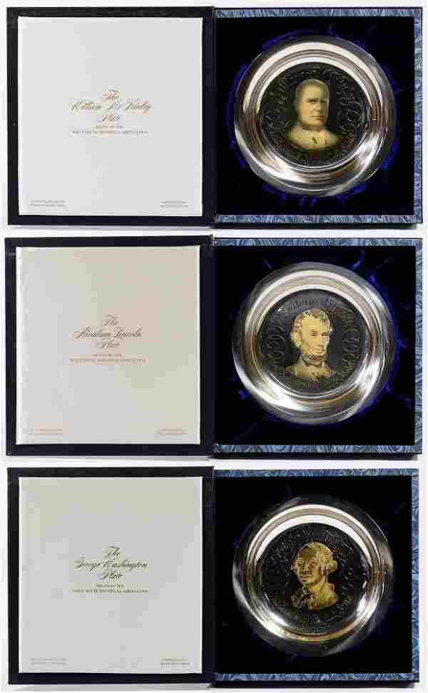 Franklin Mint Sterling Silver Presidential Plate