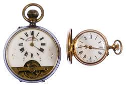 14k Gold and Sterling Silver (935) Pocket Watches