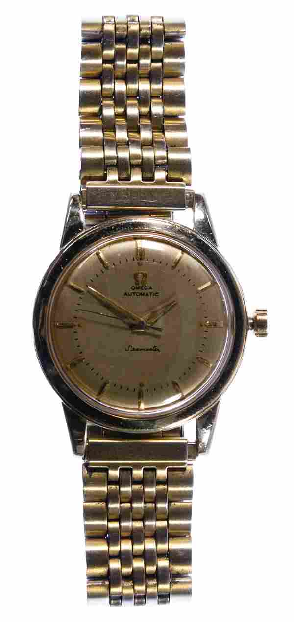 Omega 14k Gold Filled Seamaster Automatic Wrist Watch