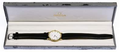 Omega 18k Gold Case Wrist Watch